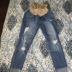 Jessica Simpson-Maternity XS. Destructed Jeans.